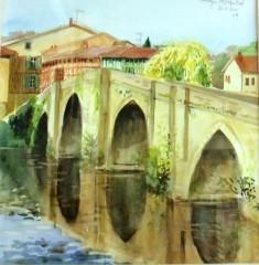 Charlie Abad aquarelle pont st Martial Limoges.JPG